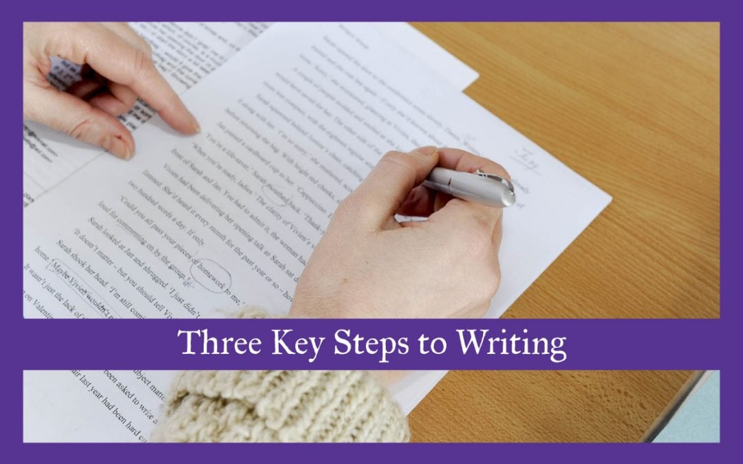 Three Key Steps to Writing